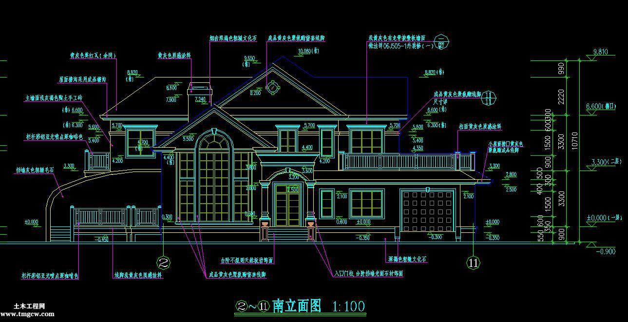 2层385平米某山庄别墅工程量计算书及清单计价含建筑结构图