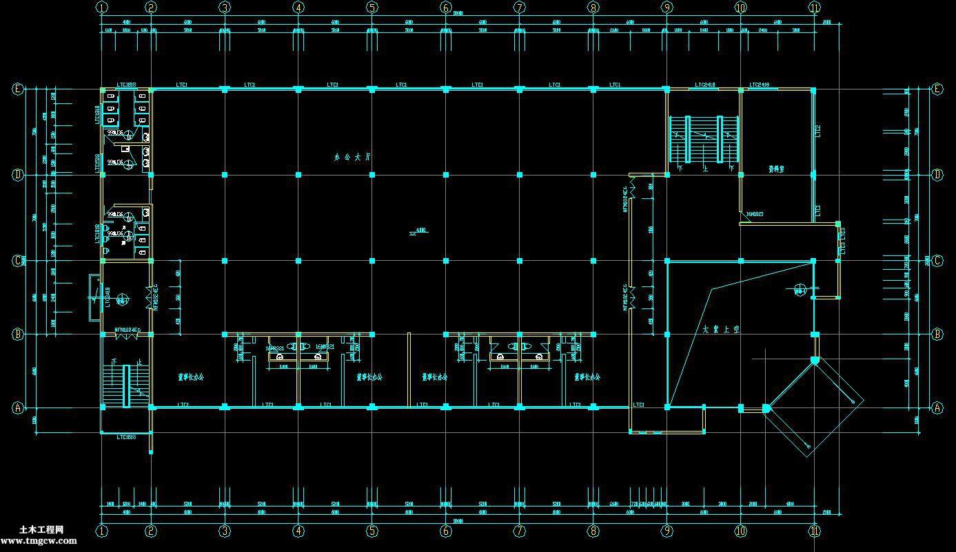 3层2677平米框架办公楼工程量计算及施工组织含施工图